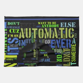Arte automático design#4 del texto de las letras toalla de cocina