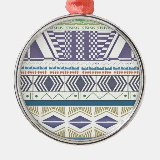 Arte azteca colorido y único ornamento para reyes magos