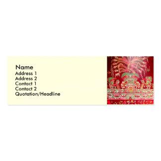 Arte azteca en diseño rojo tarjetas de visita