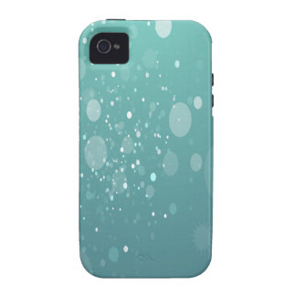 Arte azul abstracto ligero iPhone 4 carcasa