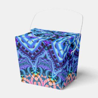 Arte azul adornado del caleidoscopio de las cajas para regalos