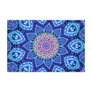 Arte azul adornado del caleidoscopio de las impresion en lona