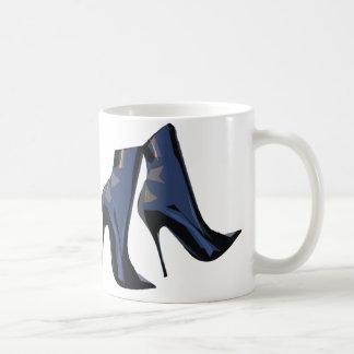 Arte (azul) agudo de la bota del tobillo de las taza