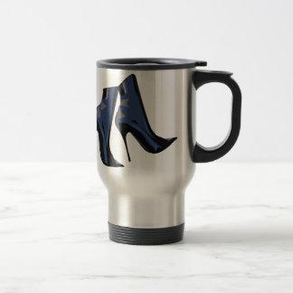 Arte (azul) agudo de la bota del tobillo de las taza térmica