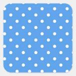 Arte azul claro del lunar pegatinas cuadradases personalizadas