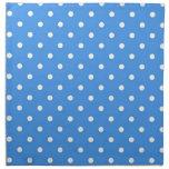 Arte azul claro del lunar servilletas