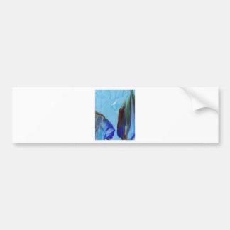 Arte azul CricketDiane del extracto elegante de la Pegatina De Parachoque