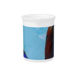 Arte azul CricketDiane del extracto elegante de la Jarrones