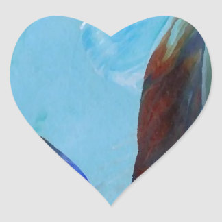 Arte azul CricketDiane del extracto elegante de la Pegatina En Forma De Corazón