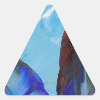 Arte azul CricketDiane del extracto elegante de la Pegatina Triangular