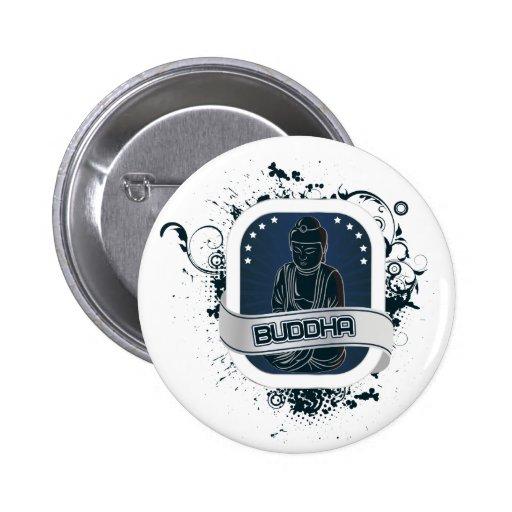 Arte azul de Buda Pin Redondo 5 Cm