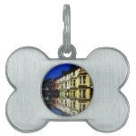 Arte azul de Digitaces de las reflexiones del edif Placas Mascota