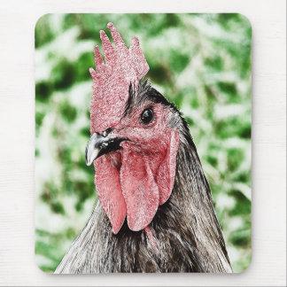 Arte azul de Digitaces del gallo Alfombrillas De Ratón