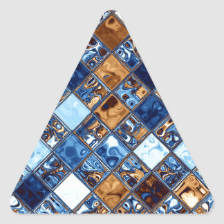Arte azul de la original del modelo de mosaico del pegatina triangular