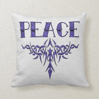Arte azul de la paz del tatuaje cojines
