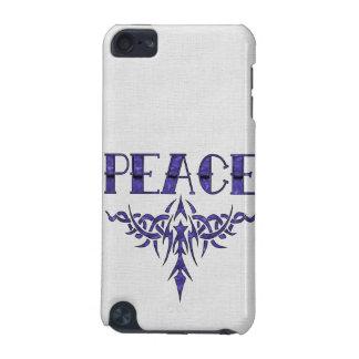 Arte azul de la paz del tatuaje funda para iPod touch 5G