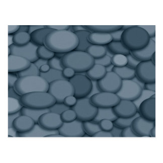 Arte azul de los guijarros de la roca del río tarjetas postales