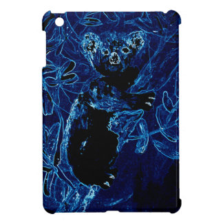 Arte azul del abrazo del árbol de la koala