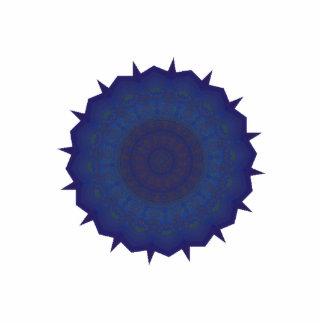 Arte azul del caleidoscopio del hilandero pin fotoescultura