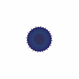 Arte azul del caleidoscopio del hilandero adorno fotoescultura