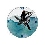 Arte azul del Grunge del truco de la bici de los m Relojes