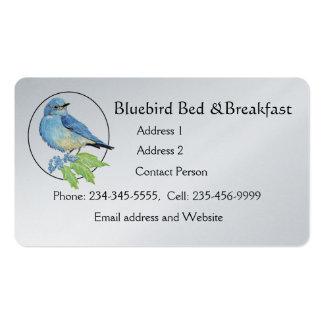 Arte azul del pájaro del Bluebird de la montaña de Tarjetas De Visita