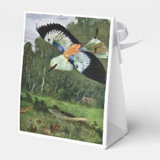 Arte azul del pájaro del rodillo cajas para regalos