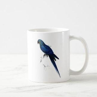 Arte azul del retrato del vintage del Macaw del ja Tazas