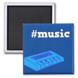 Arte azul del teclado del imán #Music del