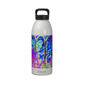 ARTE AZUL elegante de la pintada en los REGALOS po Botella De Agua Reutilizable