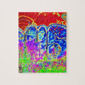 ARTE AZUL elegante de la pintada en los REGALOS Rompecabeza