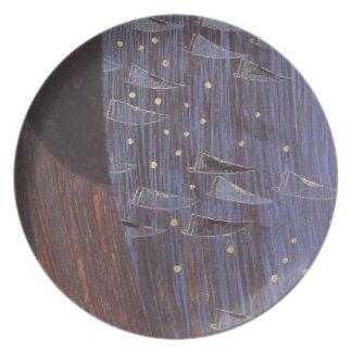 Arte azul estrellado Nouveau Klimt Platos
