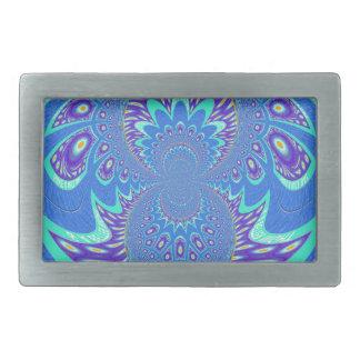 Arte azul moderno hebilla de cinturon rectangular
