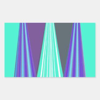Arte azul nervioso pegatina rectangular