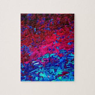 Arte azul rosado fucsia intrépido de Ombre de la Rompecabezas Con Fotos