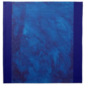 Arte azul servilletas imprimidas