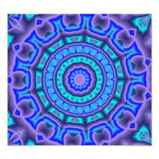 Arte azul y púrpura del círculo arte con fotos