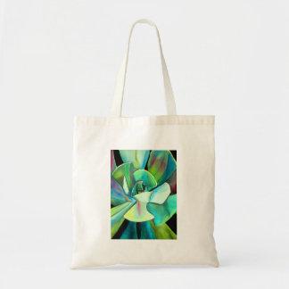 Arte azul y verde suculento del watercolour del bolsa lienzo