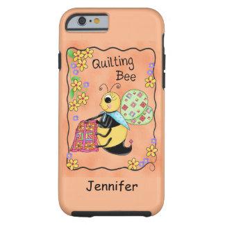 Arte banal de la abeja usted mismo de la miel de funda de iPhone 6 tough