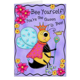 Arte banal de la abeja usted mismo de la miel de l felicitaciones