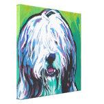 Arte barbudo del perro del estallido del collie en impresiones en lienzo estiradas