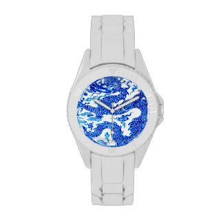 Arte blanco azul del florero de la porcelana del d