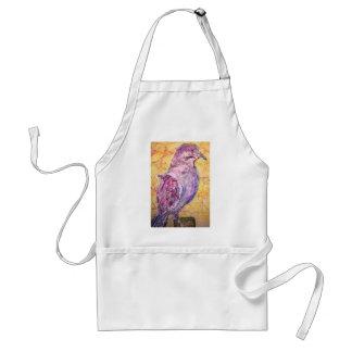 arte Blanco-con alas de la paloma Delantal