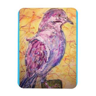 arte Blanco-con alas de la paloma Iman De Vinilo