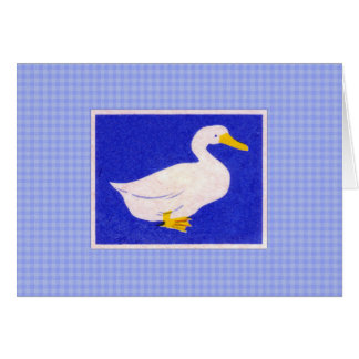 Arte blanco del pato del vintage tarjeta pequeña
