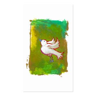 Arte blanco inspirado esperanzado hermoso de la di tarjetas de visita