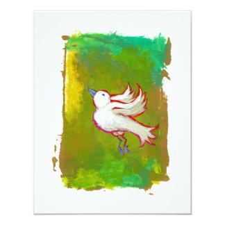 """Arte blanco inspirado esperanzado hermoso de la invitación 4.25"""" x 5.5"""""""