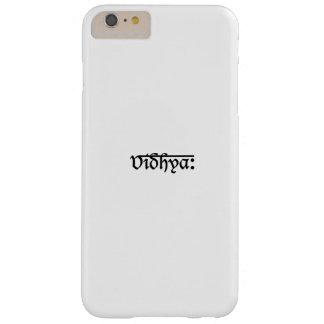 Arte blanco negro moderno de la tipografía de funda de iPhone 6 plus barely there
