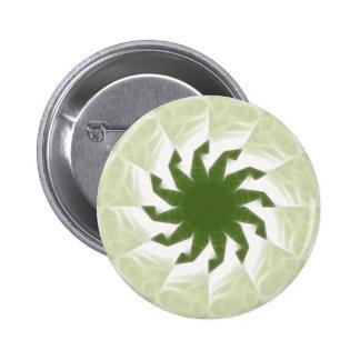 Arte blanco verde 1 del caleidoscopio pin redondo de 2 pulgadas