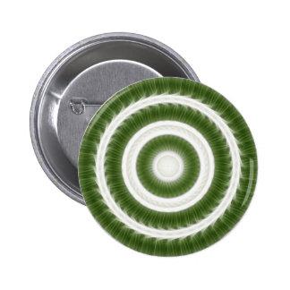 Arte blanco verde 8 del caleidoscopio pin redondo de 2 pulgadas